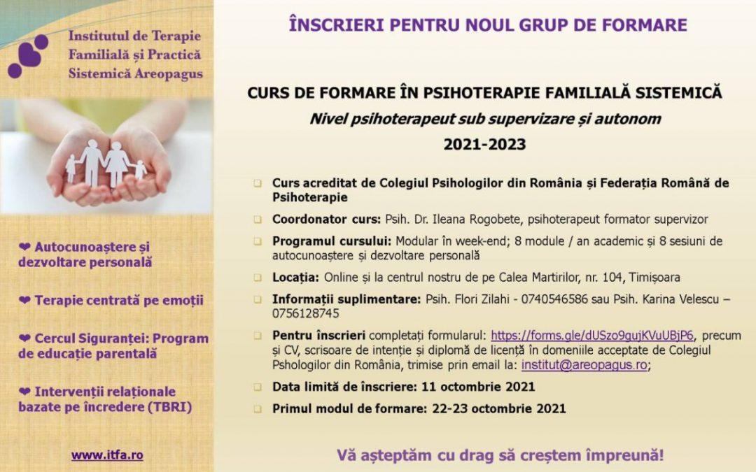 Curs de formare în psihoterapie familială sistemică: 2021-2023